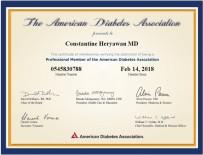 ADA member certificate